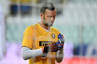 Samir Handanovic of FC Internazionale reacts prior to the Serie A football match between Parma and FC Internazionale at stadio Ennio Tardini in Parma ( Italy ), June 28th, 2020. Play resumes behind closed doors following the outbreak of the coronavirus disease. <br /> Photo Andrea Staccioli / Insidefoto