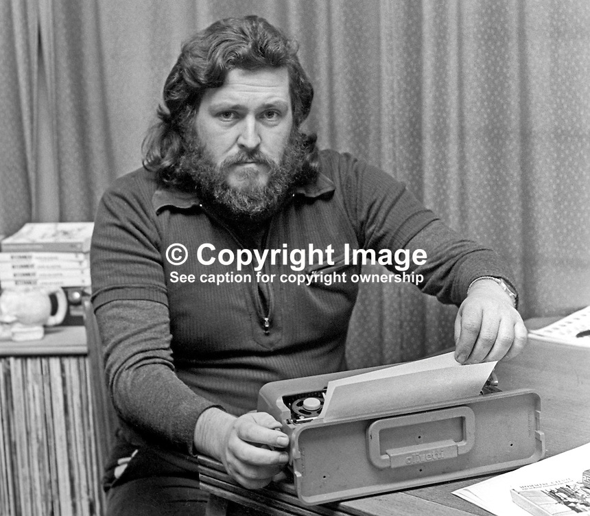 John McGuffin, Belfast, N Ireland, former internee, author of The Guineapigs, 197412090691c<br /> <br /> Copyright Image from Victor Patterson, 54 Dorchester Park, Belfast, United Kingdom, UK.  Tel: +44 28 90661296; Mobile: +44 7802 353836; Voicemail: +44 20 88167153;  Email1: victorpatterson@me.com; Email2: victor@victorpatterson.com<br /> <br /> For my Terms and Conditions of Use go to http://www.victorpatterson.com/Terms_%26_Conditions.html