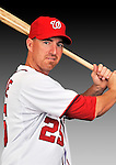 25 February 2011: Washington Nationals' first baseman Adam LaRoche poses for his Photo Day portrait at Space Coast Stadium in Viera, Florida. Mandatory Credit: Ed Wolfstein Photo