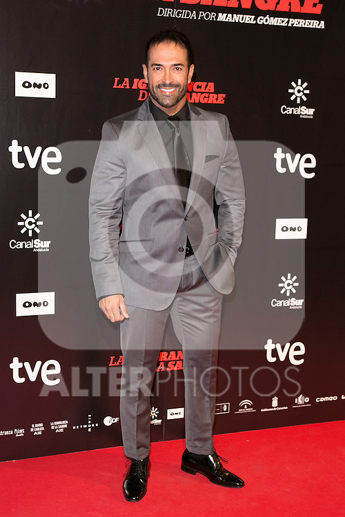 "Pablo Martin attends ""La Ignorancia de la Sangre"" Premiere at Capitol Cinema in Madrid, Spain. November 13, 2014. (ALTERPHOTOS/Carlos Dafonte)"