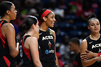 Washington, DC - July 13, 2019: Las Vegas Aces center A'ja Wilson (22) before game between Las Vegas Aces and Washington Mystics at the Entertainment & Sports Arena in Washington, DC. (Photo by Phil Peters/Media Images International)