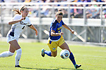 BROOKINGS, SD - SEPTEMBER 17:  Marisa Schulz #16 from South Dakota State University controls the ball in front of Maddie Barkow #4 from Northern Colorado during their game Sunday afternoon at Fischback Soccer Field in Brookings. (Photo by Dave Eggen/Inertia)