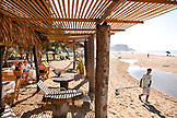MEXICO, San Pancho, San Francisco, a covered cabana area on San Pancho Beach