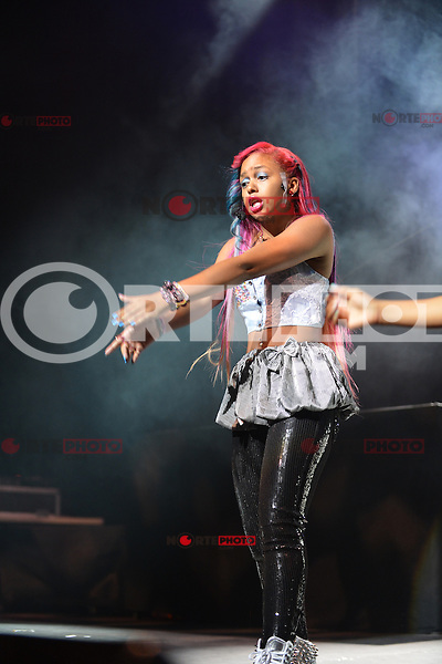 MIAMI, FL - AUGUST 31: Breaunna &quot;Baby Doll&quot; Womack of OMG Girlz performs during Scream Tour with the Next Generation Pt. 2 at James L Knight Center on August 31, 2012 in Miami, Florida. (photo by: MPI10/MediaPunch Inc.) /NortePhoto.com<br />