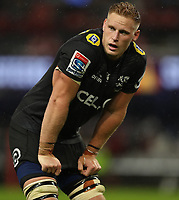 DURBAN, SOUTH AFRICA - APRIL 14: Jean-Luc du Preez of the Cell C Sharks during the Super Rugby match between Cell C Sharks and Vodacom Bulls at Jonsson Kings Park Stadium on April 14, 2018 in Durban, South Africa. Photo: Steve Haag / stevehaagsports.com