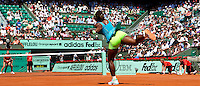 Serena Williams (USA) (1) against Stefanie Voegele (SUI) in the first round of the women's singles. Serena Williams beat Stefanie Voegele 7-6 6-2..Tennis - French Open - Day 2 - Mon 24 May 2010 - Roland Garros - Paris - France..© FREY - AMN Images, 1st Floor, Barry House, 20-22 Worple Road, London. SW19 4DH - Tel: +44 (0) 208 947 0117 - contact@advantagemedianet.com - www.photoshelter.com/c/amnimages