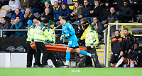 Blackpool's Myles Boney replaces Blackpool's Mark Howard who is carried off the pitch on a stretcher after suffering an injury<br /> <br /> Photographer Chris Vaughan/CameraSport<br /> <br /> The EFL Sky Bet League One - Burton Albion v Blackpool - Saturday 16th March 2019 - Pirelli Stadium - Burton upon Trent<br /> <br /> World Copyright &copy; 2019 CameraSport. All rights reserved. 43 Linden Ave. Countesthorpe. Leicester. England. LE8 5PG - Tel: +44 (0) 116 277 4147 - admin@camerasport.com - www.camerasport.com