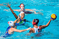 EMMOLO Giulia ITA, EGGENS Monika CAN<br /> ITA (white cap) -  CAN (blue cap)<br /> Water Polo<br /> Day03  16/07/2017 <br /> XVII FINA World Championships Aquatics<br /> Alfred Hajos Complex Margaret Island  <br /> Budapest Hungary July 15th - 30th 2017 <br /> Photo @ Deepbluemedia/Insidefoto