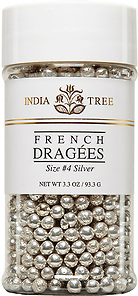 10711 Silver Dragées, Size 4, Small Jar 3.3 oz
