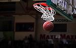 S&ouml;dert&auml;lje 2014-04-22 Basket SM-Semifinal 7 S&ouml;dert&auml;lje Kings - Uppsala Basket :  <br /> Boll g&aring;r i korgen vid po&auml;ng f&ouml;r S&ouml;dert&auml;lje Kings <br /> (Foto: Kenta J&ouml;nsson) Nyckelord:  S&ouml;dert&auml;lje Kings SBBK Uppsala Basket SM Semifinal Semi T&auml;ljehallen boll basketboll korg basketkorg genre po&auml;ng