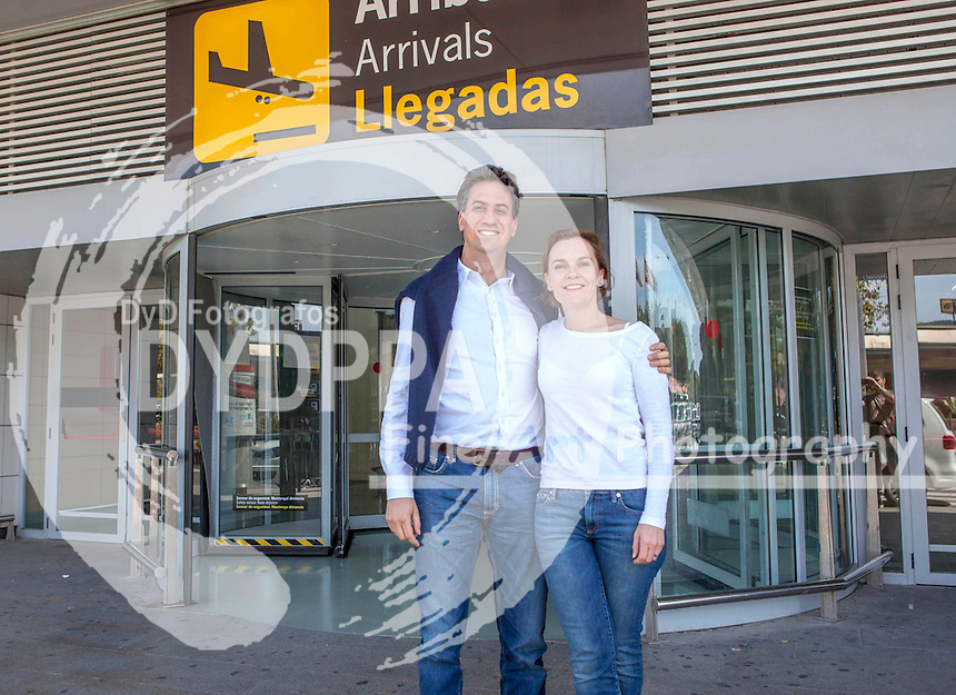 **ALL ROUND EXCLUSIVE PICTURES FROM SOLARPIX.COM**<br /> **DOUBLE SPACE RATES APPLY**<br /> **WORLDWIDE SYNDICATION RIGHTS**                                                                                  Caption: Labour MP Ed Millaband &amp; his wife Justine Thornton seen arriving at Ibiza airport today for a few days holiday to get over his defeat in the general election.<br /> This pic: Ed Millaband &amp; his wife Justine Thornton <br /> JOB REF: 18188      IWT   DATE:11.05.2015<br /> **MUST CREDIT SOLARPIX.COM OR DOUBLE FEE<br /> WILL BE CHARGED**<br /> **MUST AGREE FEE BEFORE ONLINE USAGE**<br /> **CALL US ON: +34 952 811 768 or LOW RATE FROM UK 0844 617 7637**