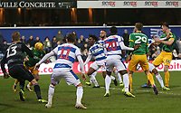 Preston North End's Alan Browne scores his side's third goal <br /> <br /> Photographer Rob Newell/CameraSport<br /> <br /> The EFL Sky Bet Championship - Queens Park Rangers v Preston North End - Saturday 19 January 2019 - Loftus Road - London<br /> <br /> World Copyright &copy; 2019 CameraSport. All rights reserved. 43 Linden Ave. Countesthorpe. Leicester. England. LE8 5PG - Tel: +44 (0) 116 277 4147 - admin@camerasport.com - www.camerasport.com