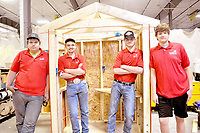 RACHEL DICKERSON/MCDONALD COUNTY PRESS Tryston Leach, left, Blaine Bishop, Reece Cooper and Dustin Greenup are the members of the Skills USA Teamworks team who are going to nationals in Louisville, Ky.