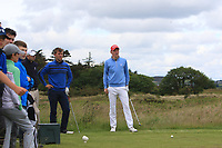 Robbie Pierse (Portmarnock) and John Murphy (Kinsale) on the 15th tee during Round 4 of the East of Ireland Amateur Open Championship at Co. Louth Golf Club in Baltray on Monday 5th June 2017.<br /> Photo: Golffile / Thos Caffrey.<br /> <br /> All photo usage must carry mandatory copyright credit     (&copy; Golffile | Thos Caffrey)