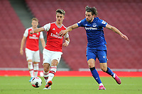 Arsenal's Robbie Burton and Anthony Evans of Everton during Arsenal Under-23 vs Everton Under-23, Premier League 2 Football at the Emirates Stadium on 23rd August 2019
