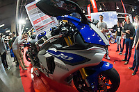 VALENCIA, SPAIN - NOVEMBER 7: Yamaha R1 during DOS RODES at Feria Valencia on November 7, 2015 in Valencia, Spain