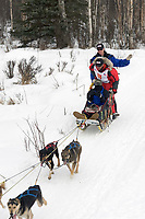 Doug Swingley w/Iditarider on Trail 2005 Iditarod Ceremonial Start near Campbell Airstrip Alaska SC
