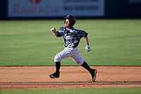Lakeland Flying Tigers Jon Rosoff (29) runs the bases after hitting a triple during a Florida State League game against the Dunedin Blue Jays on May 18, 2019 at Publix Field at Joker Marchant Stadium in Lakeland, Florida.  Dunedin defeated Lakeland 3-2 in eleven innings.  (Mike Janes/Four Seam Images)