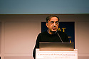 Sergio Marchionne, Managing Director of Fiat, speaks at First Quotation Cerimony of Fiat's two new divisions - Fiat Industrial and Fiat -  at Italian Stock Exchange, in Milan, Jan 3, 2011. © Carlo Cerchioli