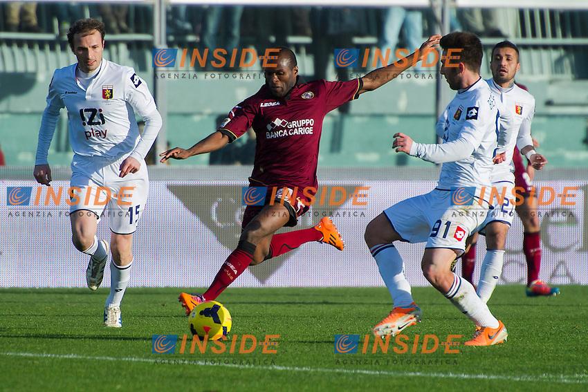 Innocent Emeghara Livorno <br /> Livorno 09-02-2014 Stadio Amando Picchi - Football Calcio Serie A 2013/2014 Livorno - Genoa Foto Andrea Masini / Insidefoto