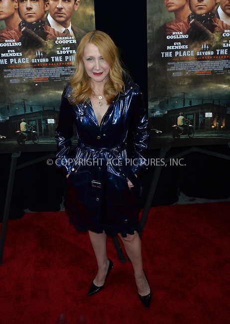 WWW.ACEPIXS.COM....March 28 2013, New York City....Patricia Clarkson arriving at 'The Place Beyond The Pines' New York Premiere at the Landmark Sunshine Cinema on March 28, 2013 in New York City.......By Line: Curtis Means/ACE Pictures......ACE Pictures, Inc...tel: 646 769 0430..Email: info@acepixs.com..www.acepixs.com