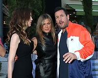 "LOS ANGELES - JUN 10:  Jackie Sandler, Jennifer Aniston, Adam Sandler at the ""Murder Mystery"" Premiere at the Village Theater on June 10, 2019 in Westwood, CA"