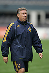 21 November 2009: Assistant coach Trevor James (ENG). The Los Angeles Galaxy held a training session at Qwest Field in Seattle, Washington in preparation for playing Real Salt Lake in Major League Soccer's championship game, MLS Cup 2009, the following day.