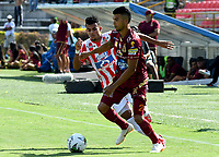 IBAGUÉ-COLOMBIA , 27 -01-2019 .  Luis Díaz (Izq.) jugador del Atlético Junior  durante partido contra el Depores Tolima  por  la final de la Superliga Liga Águila  2019 jugado en el estadio Manuel Murillo Toro de la ciudad de Ibagué./Luis Díaz (L) player of Atletico Junior  during the match agaisnt Deportes Tolima  for the final of Superliga  Aguila 2019 played at Manuel Murillo Toro  stadium in Ibague city. Photo: VizzorImage/ Cristian Álvarez/ Contribuidor
