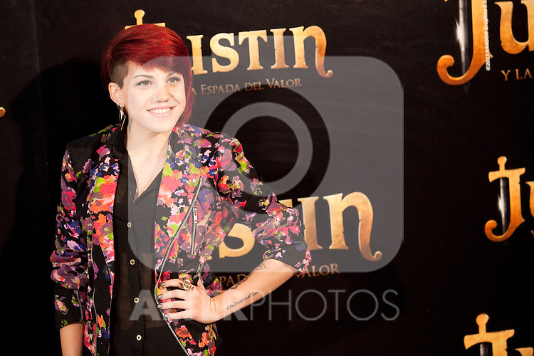 "Singer Angie during ""Justin And The Knights Of Valour"" film presentation in Spain, in Villaviciosa de Odon castle, in Madrid, Spain. September 11, 2013. (Alterphotos/Victor Blanco)"
