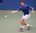 Stanislas Wawrinka (SUI) goes out ahead of Donald Young (USA) 6-4, 1-6, 6-3, 3-2