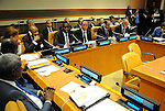 Egyptian President Abdel Fattah al-Sisi attends a meeting to follow up the implementation of the African Initiative for Renewable Energy at the United Nations Headquarters in New York, U.S., where they are attending the UN General Assembly on Sep. 20, 2016. Photo by Egyptian President Office