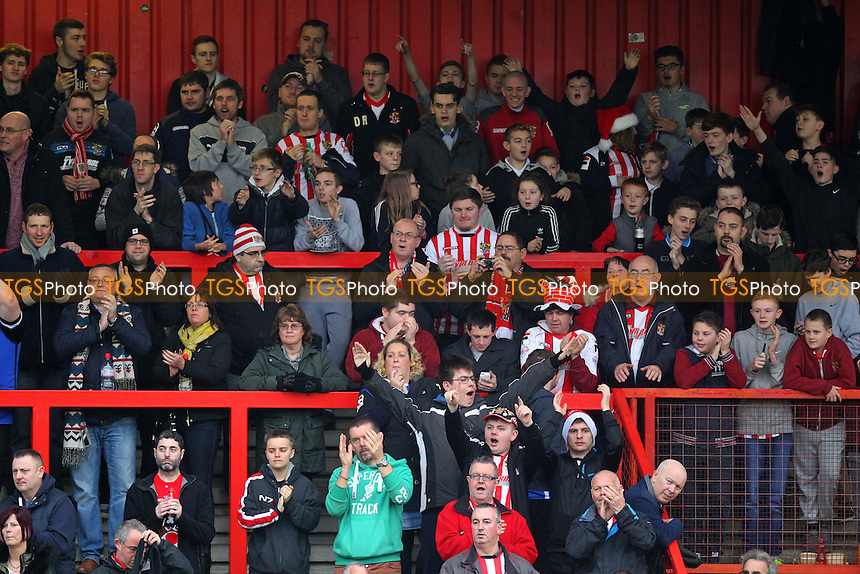 Stevenage fans applaud their team during Stevenage vs Accrington Stanley, Sky Bet League 2 Football at the Lamex Stadium, Stevenage, England on 19/12/2015