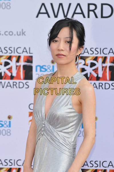 XUEFEI YANG.Arrivals for the Classical Brit Awards 2008 held at the Royal Albert Hall, London, England, UK, 8th May 2008..half length silver dress.CAP/CAN.© Phil Loftus/Capital Pictures