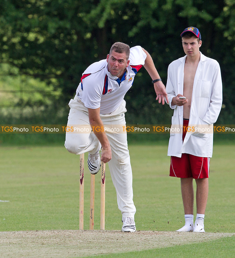 Anton Nortje of Hornchurch Athletic in action - Broomfield CC v Hornchurch Athletic CC - Essex Cricket League - 29/06/13 - MANDATORY CREDIT: Ray Lawrence/TGSPHOTO - Self billing applies where appropriate - 0845 094 6026 - contact@tgsphoto.co.uk - NO UNPAID USE