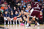 DALLAS, TX - MARCH 31:  Dominique Dillingham #00 of the Mississippi State Lady Bulldogs dribbles during the 2017 Women's Final Four at American Airlines Center on March 31, 2017 in Dallas, Texas. (Photo by Justin Tafoya/NCAA Photos via Getty Images)