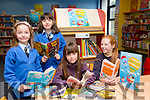 At the launch of the Summer reading adventure at Kerry County Library on Monday were  Hannah Egan from Ballymullen, Tanya Egan, from Ballymullen,Leah Van Campen from Clare and Caoimhe Donnelly from Kilflynn