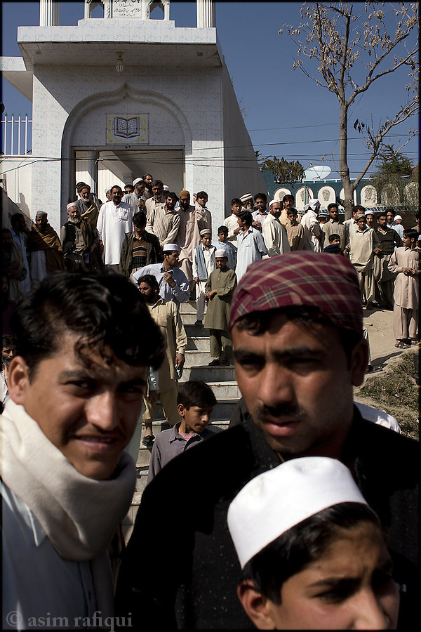 scene outside a local mosque, mingora, swat