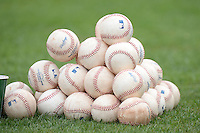Minnesota Twins baseballs during practice on February 25, 2014 at Hammond Stadium in Fort Myers, Florida.  (Mike Janes Photography)