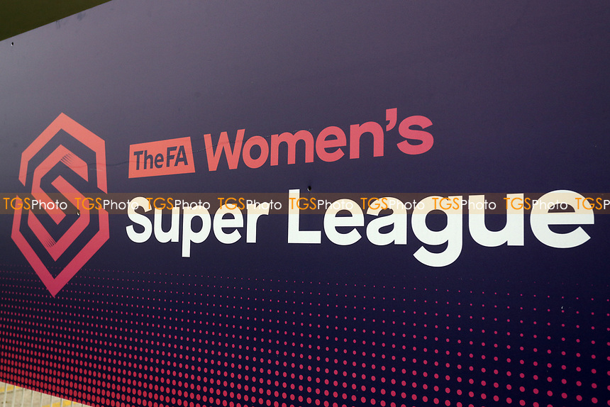 FAWSL signage during West Ham United Women vs Arsenal Women, FA Women's Super League Football at Rush Green Stadium on 6th January 2019