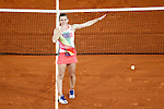 Simona Halep, Roumania, celebrates the victory in the Madrid Open Tennis 2016 Final match.May, 7, 2016.(ALTERPHOTOS/Acero)a