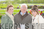 Ciara Burke, Dave Rae and Adrienne Burke at the Killarney Races on Sunday