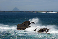 6-5-2013: High waves crash on rocks near The Blasket Islands in County Kerry on Monday.<br /> Picture by Don MacMonagle