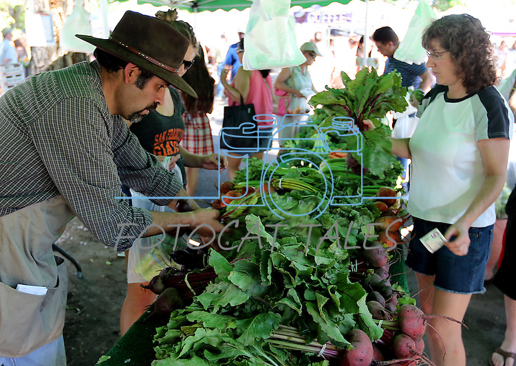 Images from the Rodriquez Farms booth at the Saturday Morning Farmers's Market at 3rd & Curry Streets, in Carson City, Nev., on Saturday, June 8, 2013. <br /> Photo by Cathleen Allison