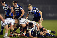 Ollie Fox of Bath United looks on. Premiership Rugby Shield match, between Bath United and Gloucester United on April 8, 2019 at the Recreation Ground in Bath, England. Photo by: Patrick Khachfe / Onside Images