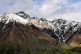 Abendstimmung rund um den Mount Khuro. / Khuro Mountain range.