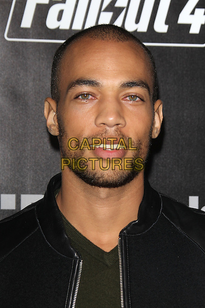 LOS ANGELES, CA - NOVEMBER 5: Kendrick Sampson at the Fallout 4 video game launch event in downtown Los Angeles on November 5, 2015 in Los Angeles, California. <br /> CAP/MPI21<br /> &copy;MPI21/Capital Pictures