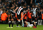 Dejected Isaac Hayden of Newcastle United and Christian Atsu of Newcastle United during the Premier League match at Villa Park, Birmingham. Picture date: 25th November 2019. Picture credit should read: Darren Staples/Sportimage