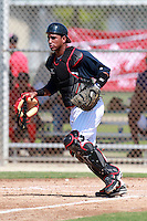 Minnesota Twins minor league catcher Jhonatan Arias during a game vs. the Boston Red Sox in an Instructional League game at Lee County Sports Complex in Fort Myers, Florida;  October 2, 2010.  Photo By Mike Janes/Four Seam Images