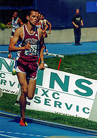 Iowa native and Southwest Missouri State senior Blake Boldon runs to victory in the University and College 1500-meters at the 2003 Drake Relays in Des Moines, Iowa, April 23-26. Boldon finished in 3:45.20 for the victory.