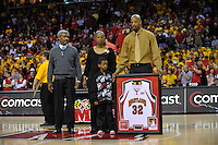 Jerome Burney is recognized during Senior Night at the Comcast Center prior to the last home game of the season against the Duke Blue Devils  in College Park, MD on Wednesday, March 3, 2010. Alan P. Santos/DC Sports Box
